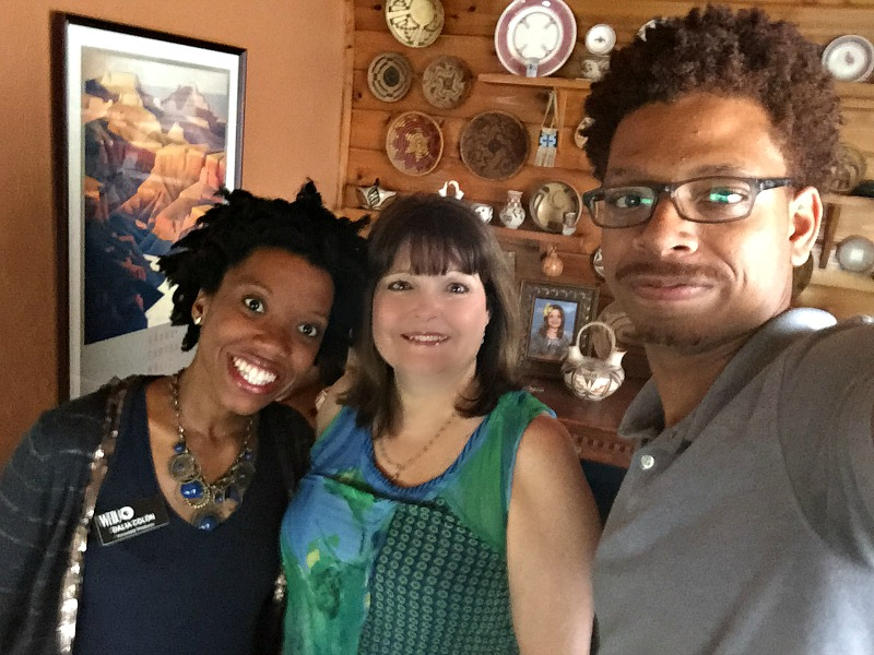 Producer Dalia Colon, videographer Danny Bruno and myself at my home for filming.