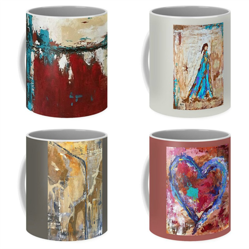 Coffee mugs available through  Fine Art America .  Two sizes and dozens of  designs available.