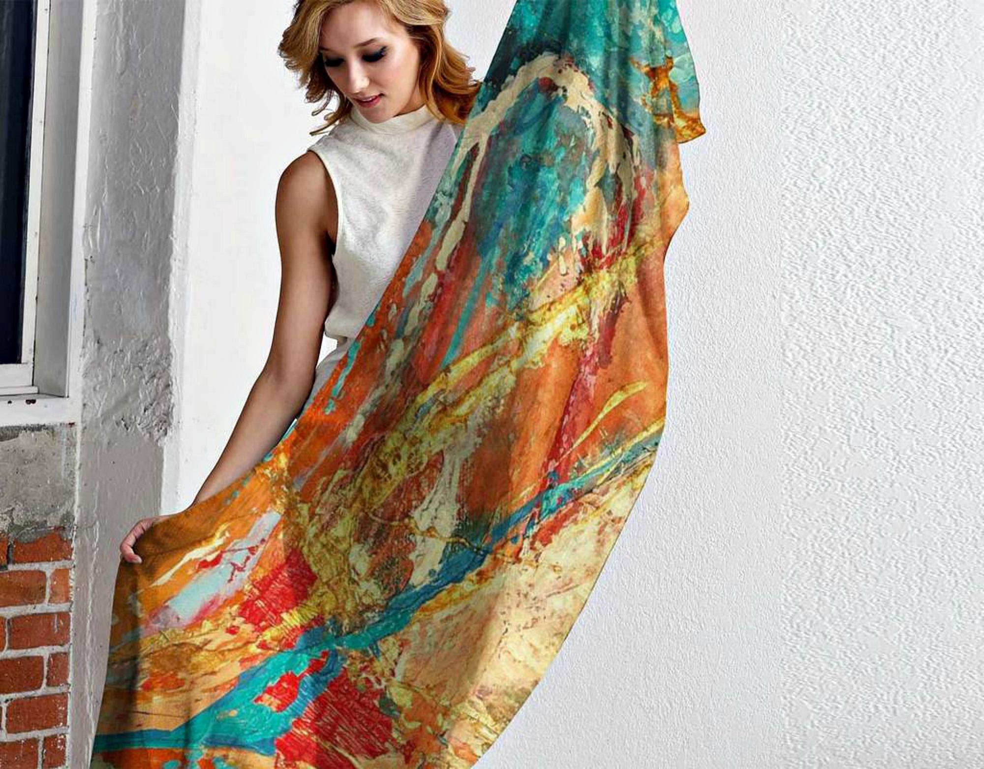 Celestial Choir modal scarf