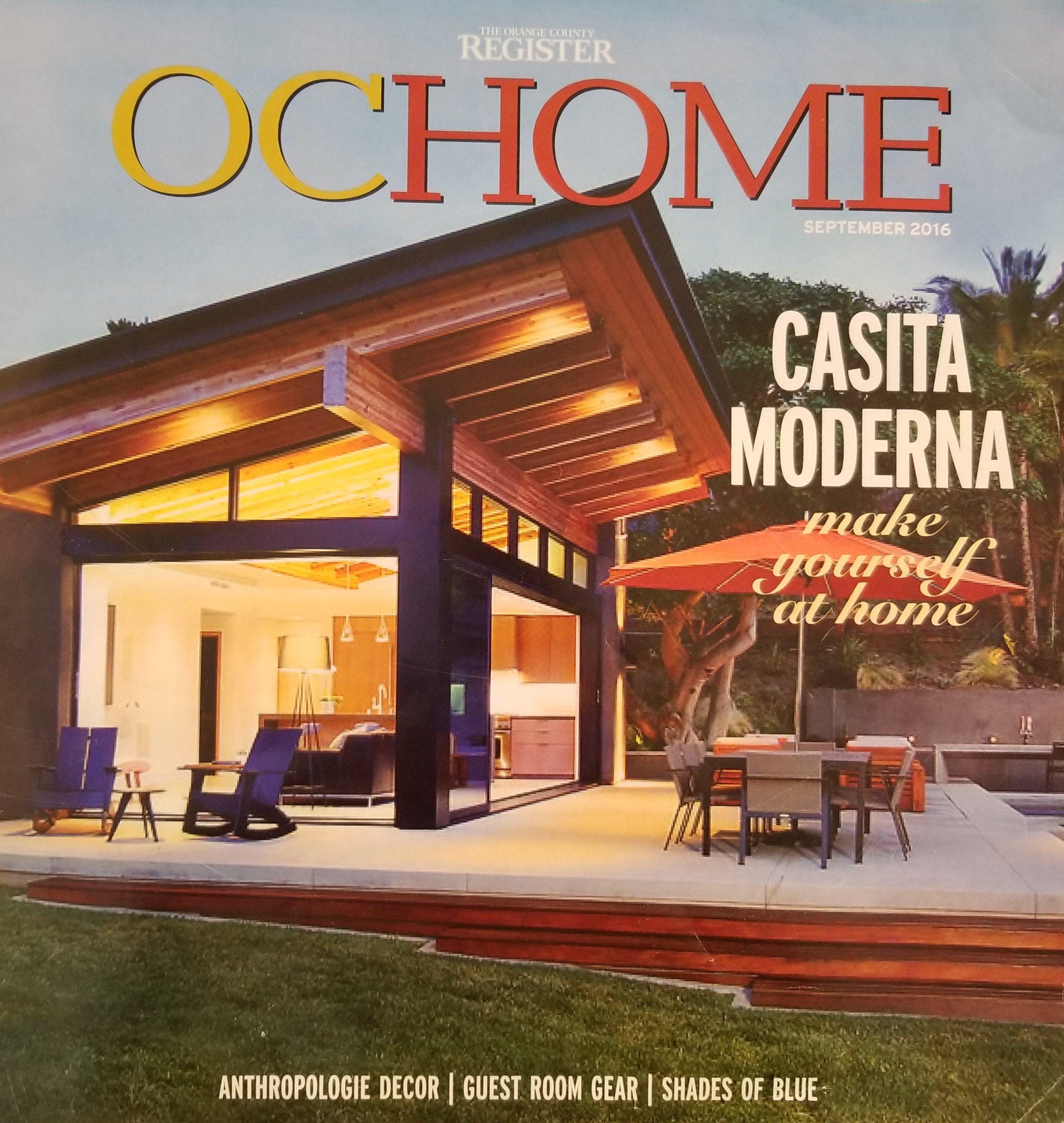 Orange County Register - OC Home, September 2016 - Cover