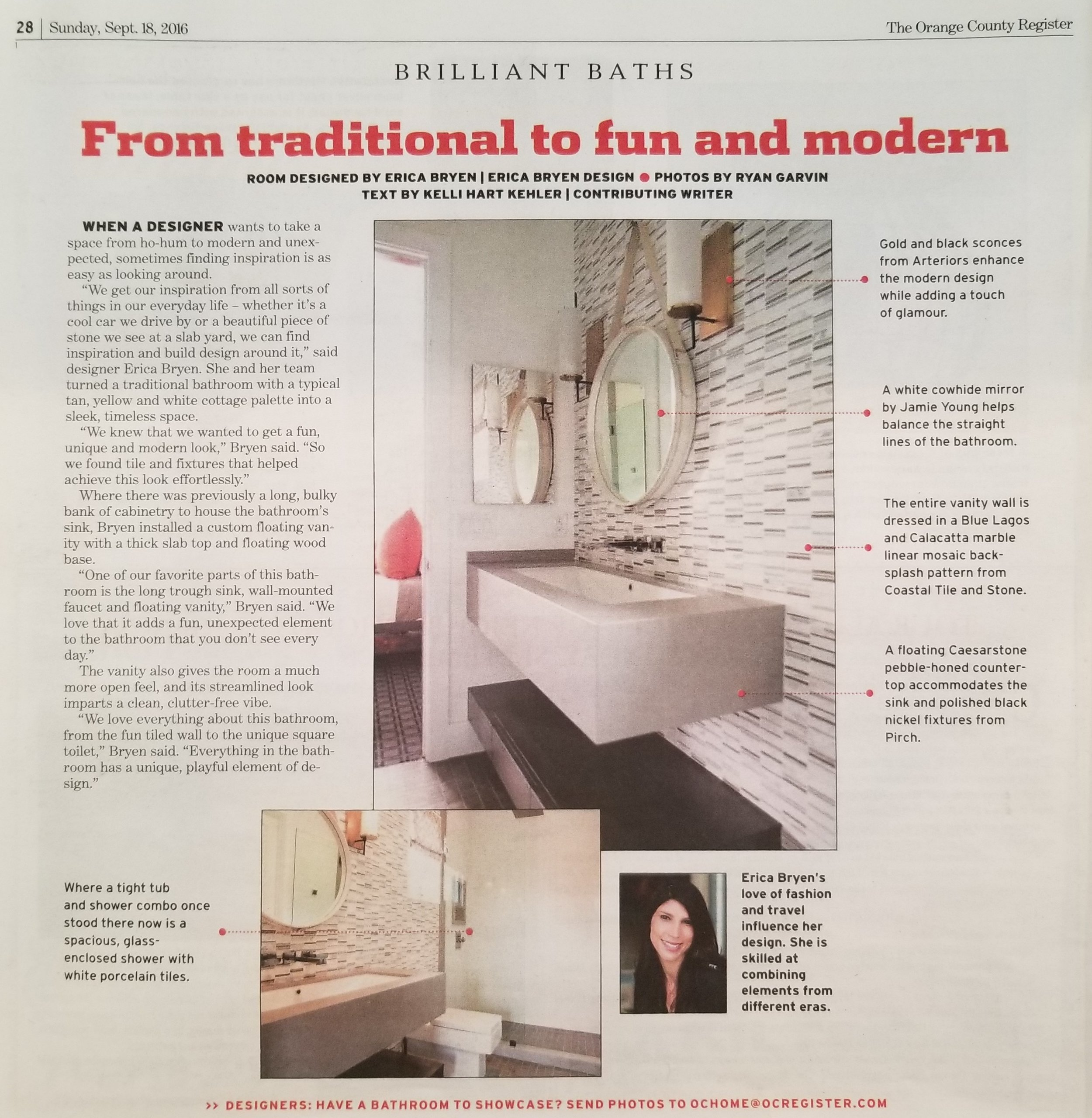 Orange County Register - OC Home, September 2016 - Article