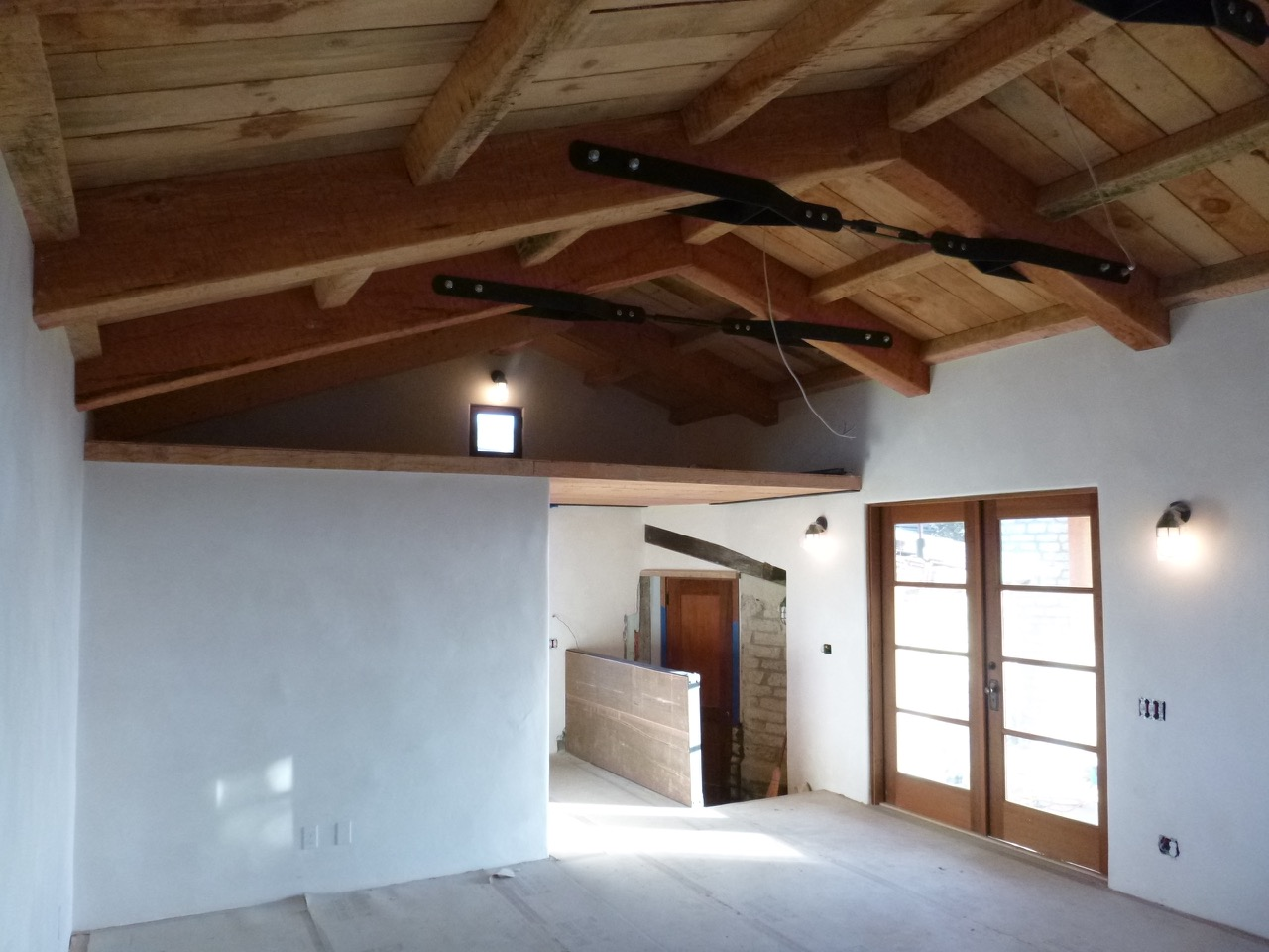 Roof structure, window frames & doorsmade from reclaimed wood