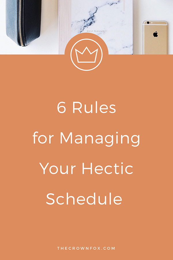 Manage Your Schedule the way the works best for you, girlboss! Here's how... | Graphic Design Assistant For Creative Entrepreneurs | www.TheCrownFox.com #schedule #productivity