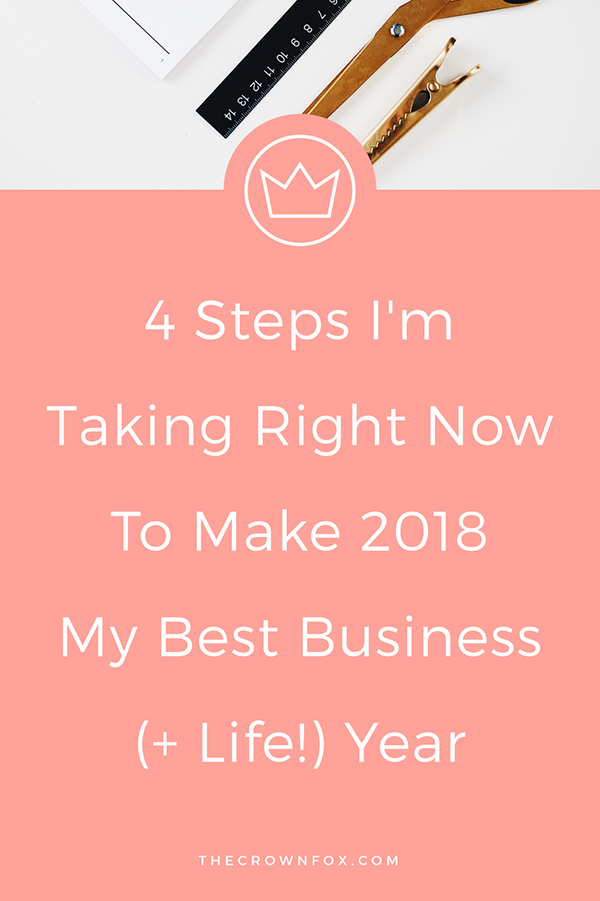 2018 Productivity Tips and Tricks - Incorporating self-care, goal setting, and intentional action into my life and business. Click through to read more! | www.TheCrownFox.com | Graphic Design Assistant for Creative Entrepreneurs #business #onlinebusiness