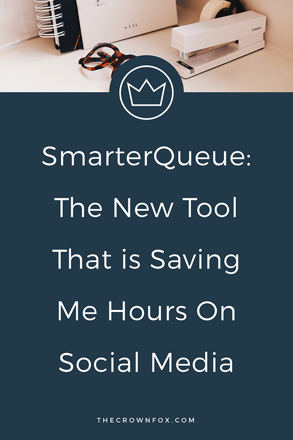 SmarterQueue is a social media scheduler that is a serious game-changer. Affordable, easy to use, and robust options! Click here to learn more! | www.TheCrownFox.com | Graphic Design Assistant to Creative Entrepreneurs #socialmedia #productivity