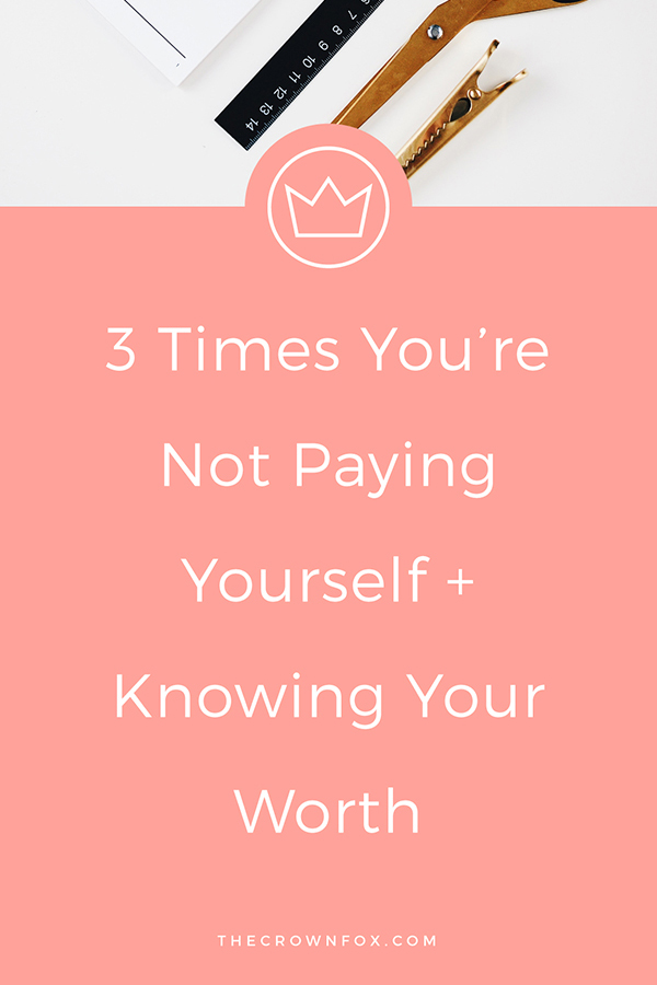 Making money as a business owner is the only way to consider yourself a real business owner! Click through to read the mistakes of when you're not paying yourself... | TheCrownFox | Graphic Design #selfemployed #onlinebusiness