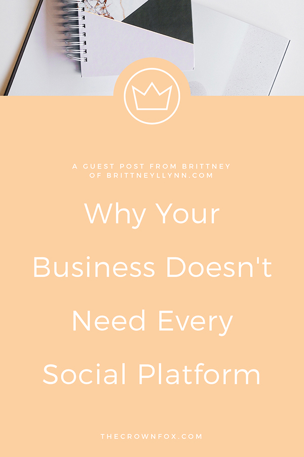 Your Business Doesn't Need Every Social Platform | TheCrownFox | Graphic Design #socialmedia #socialmediatips
