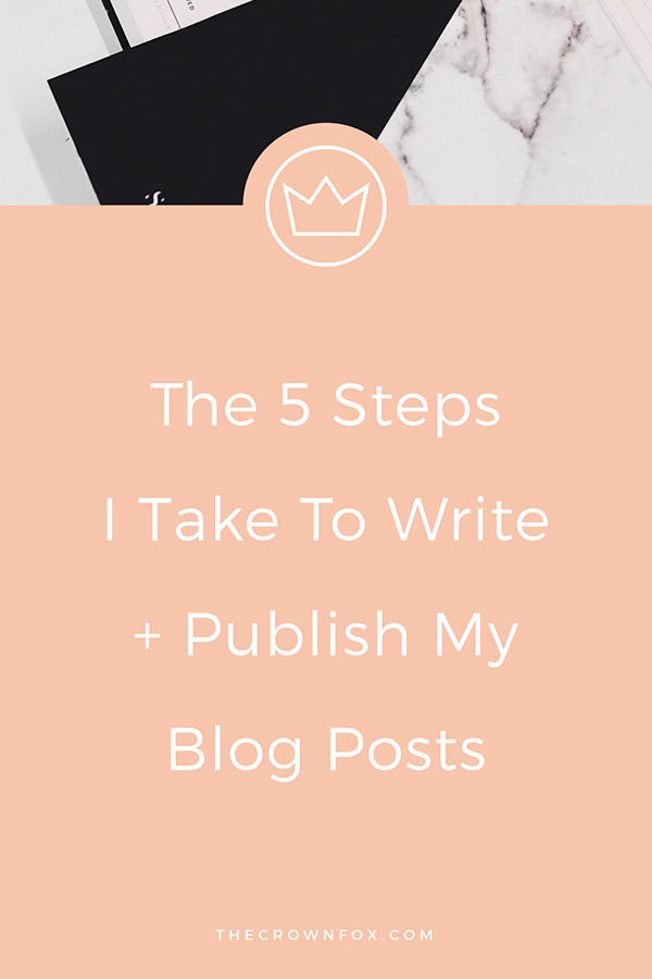 Blog Writing Process Online Business, be a blogger, write better posts easier | TheCrownFox | Graphic Design #blogger #blogwriter #blog