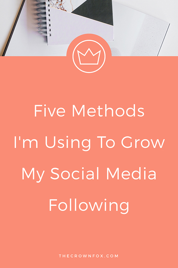 Grow Social Media Following - here are some methods I've been using to grow a larger social media presence | www.TheCrownFox.com | Graphic Designer #socialmedia #socialtips