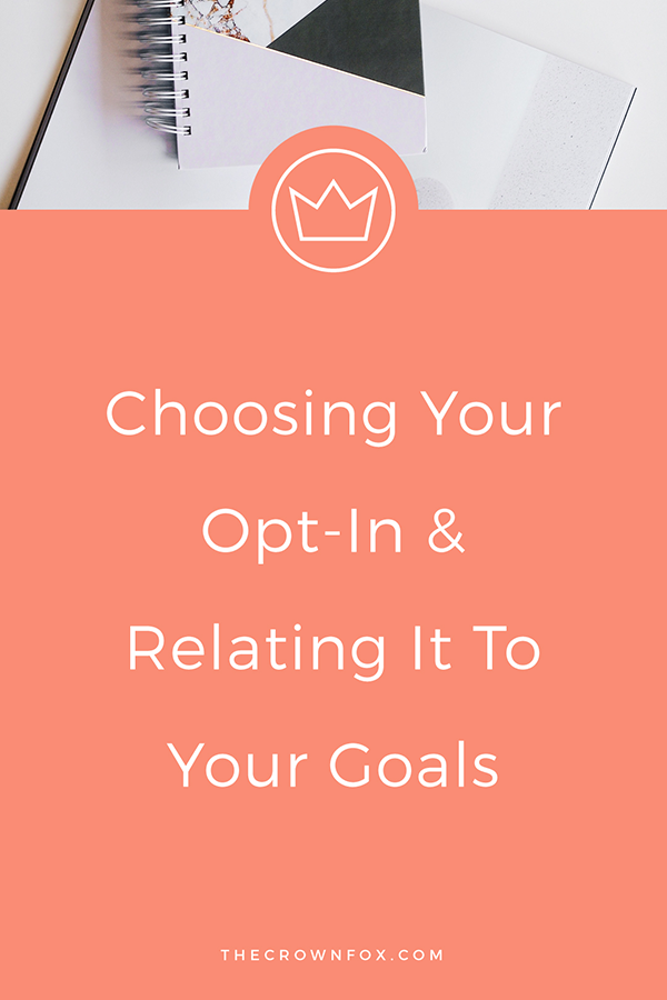 Subscriber Opt In and Content Upgrade Goals for your online business | Graphic Designer | The Crown Fox | www.TheCrownFox.com #optins #marketing