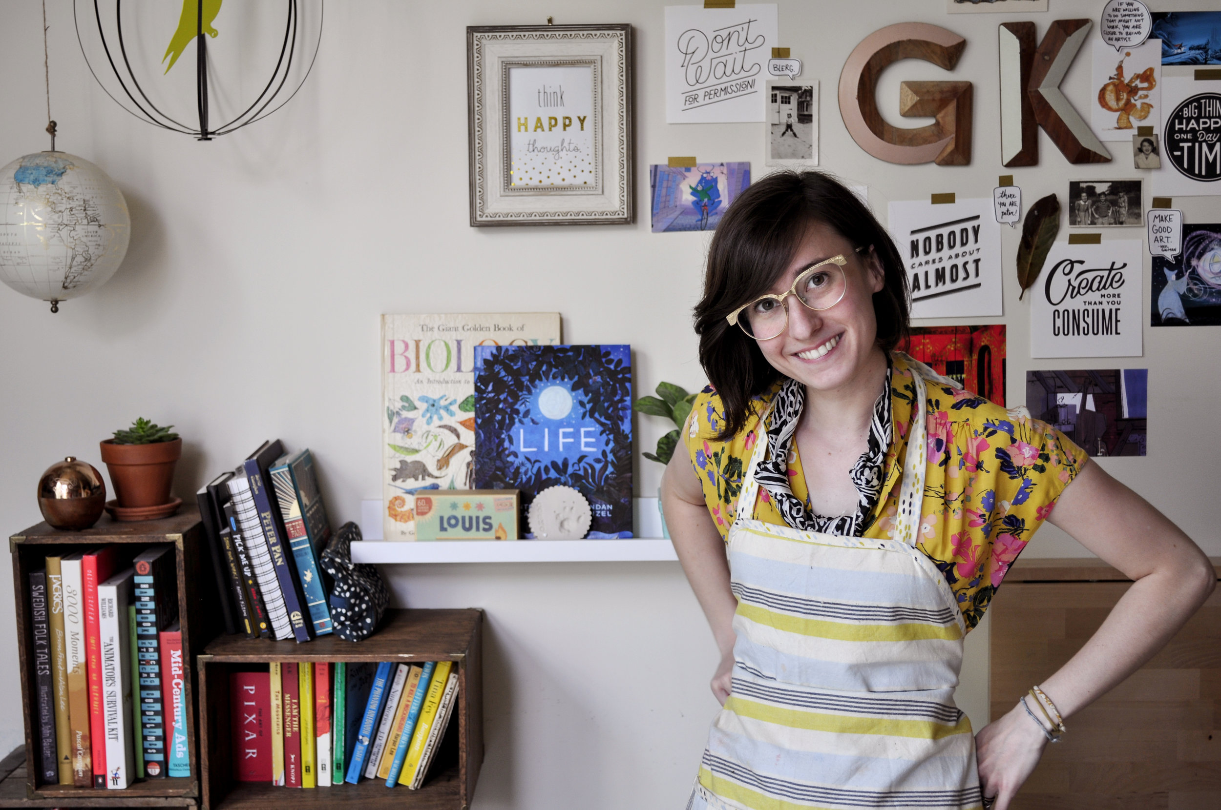 Gracie in the studio