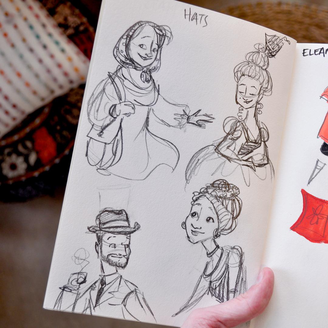 Sketchbook prompt: hats
