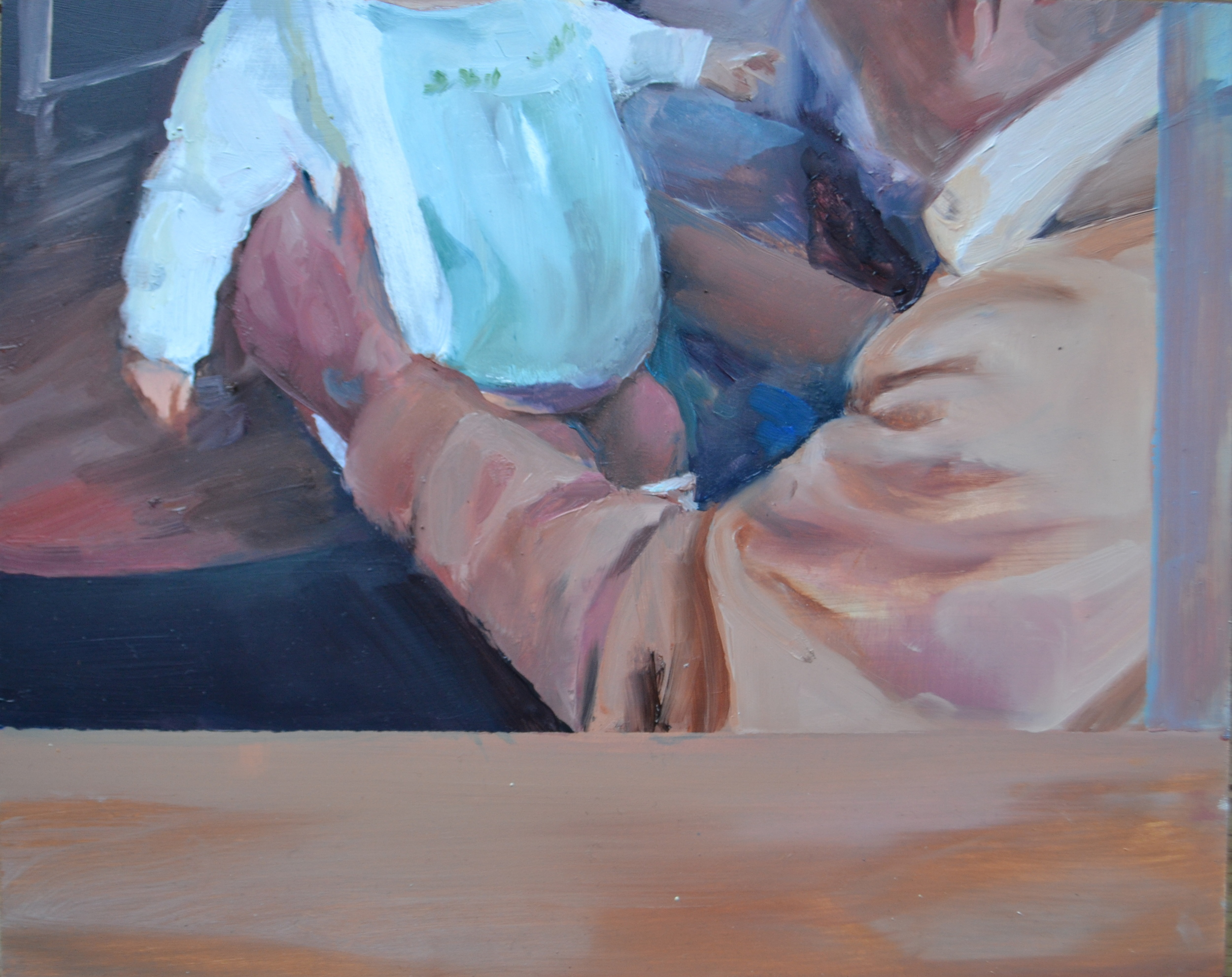Supporting (2015) Oil on Board. 20 x 25 cm. Private Collection. Eileen O'Sullivan