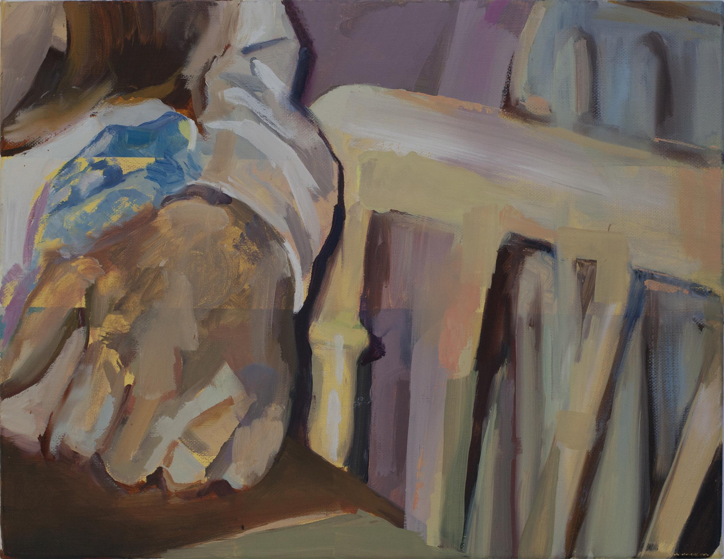 Yellow Solves Problems (2015) Oil & Acrylic on Canvas. 30 x40 cm Eileen O'Sullivan
