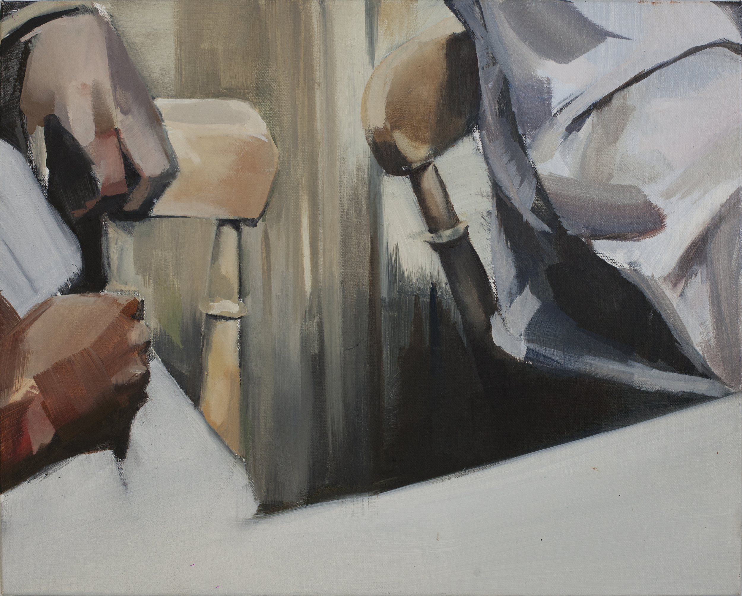 Sitting together (2014) oil on canvas 40 x 45 cm