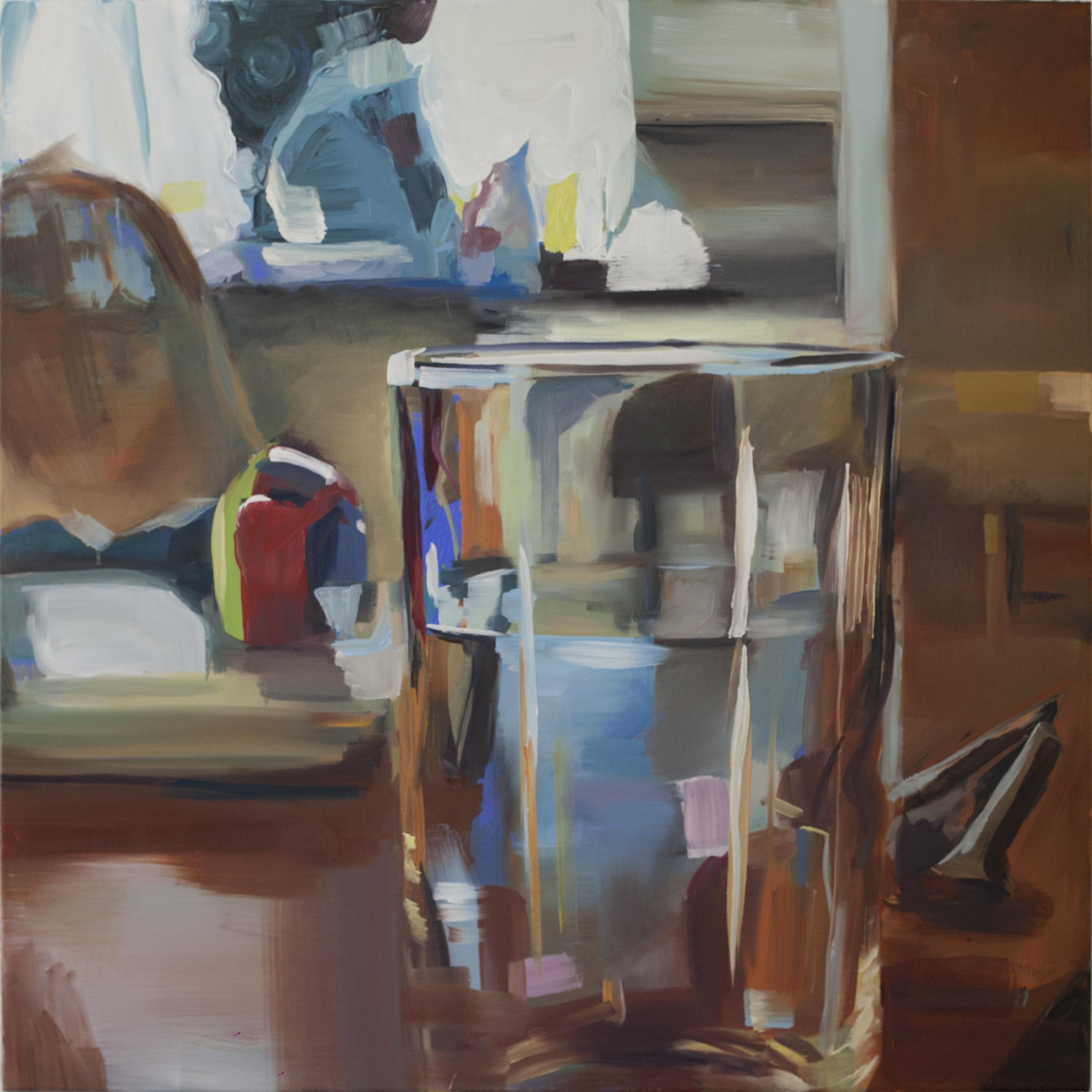 Unceremonious (2015) Oil on canvas. 90x90 cm
