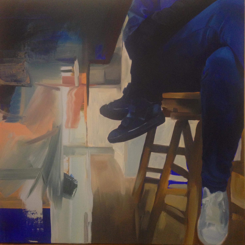 'Two Halves' (2015) 90x90cm Oil on canvas