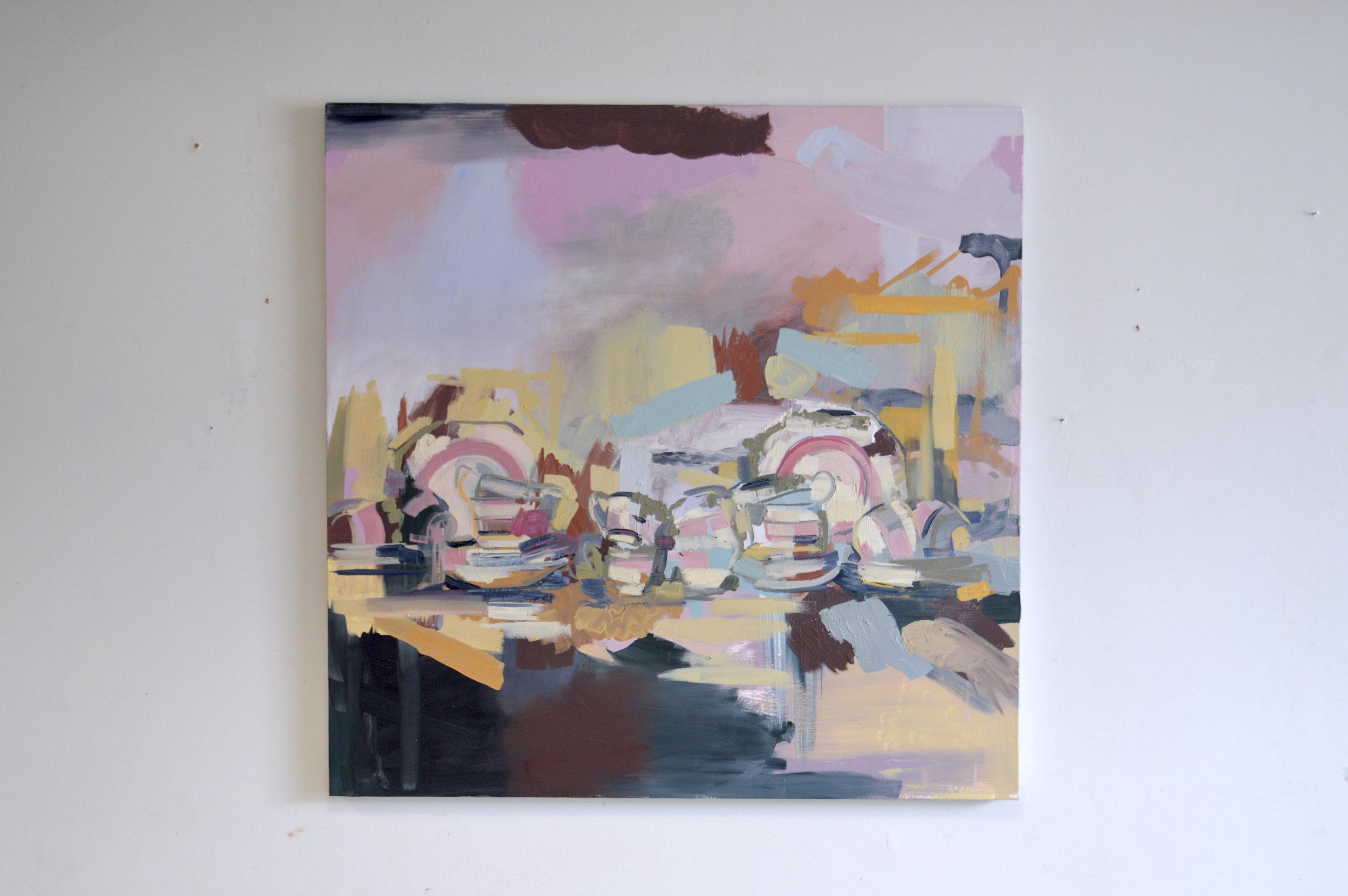 Minor Decisions (2017) Oil on Canvas. 100cm x 100 cm