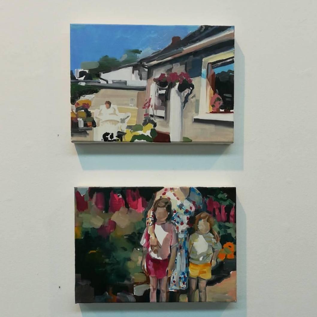 'Garden' (top) & '5 Languages' (bottom). (2017) Oil on Canvas. 25 x 35 cm each.