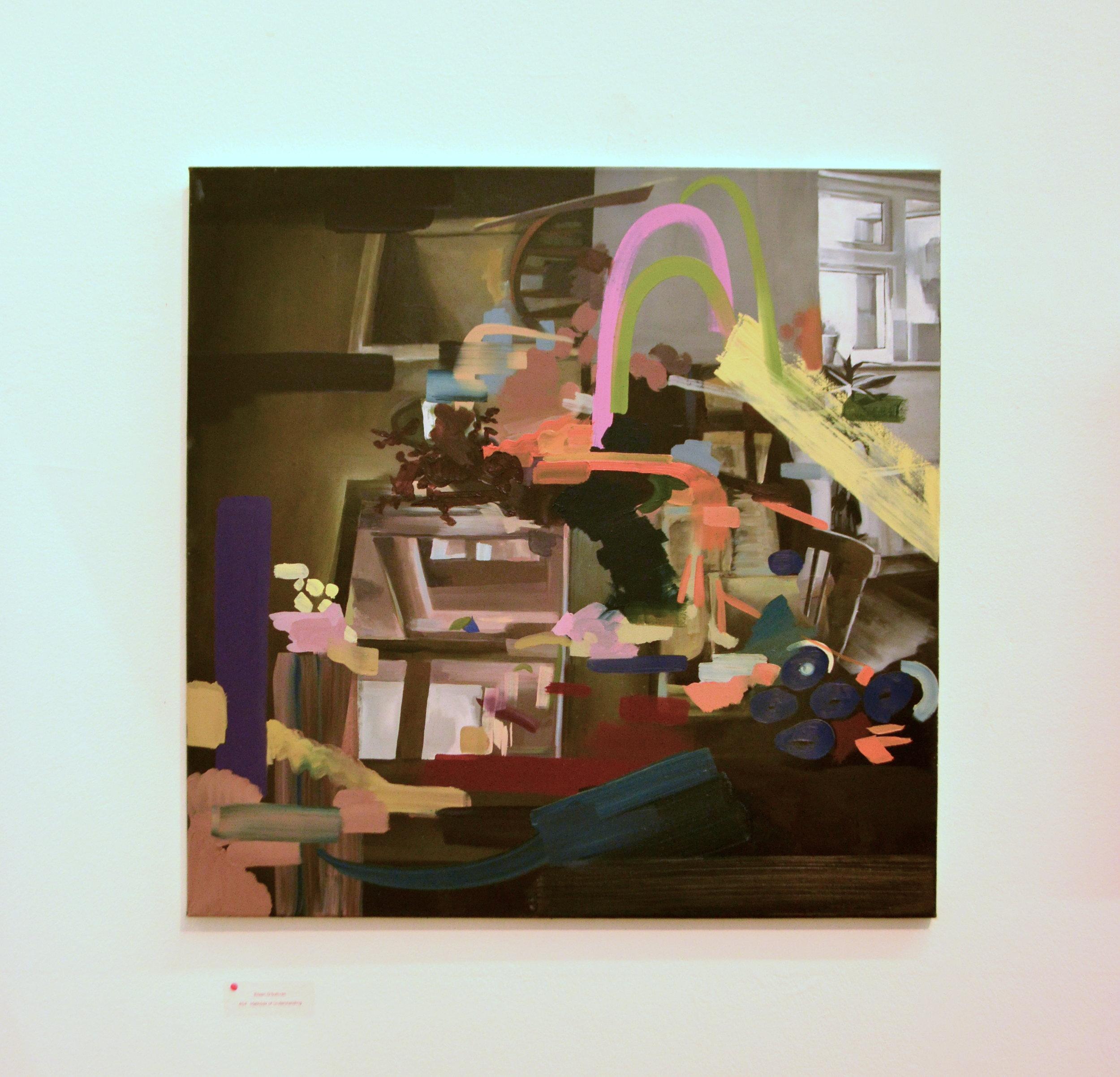 'Methods of Understanding' (2017) Oil on Canvas. 80x 80cm