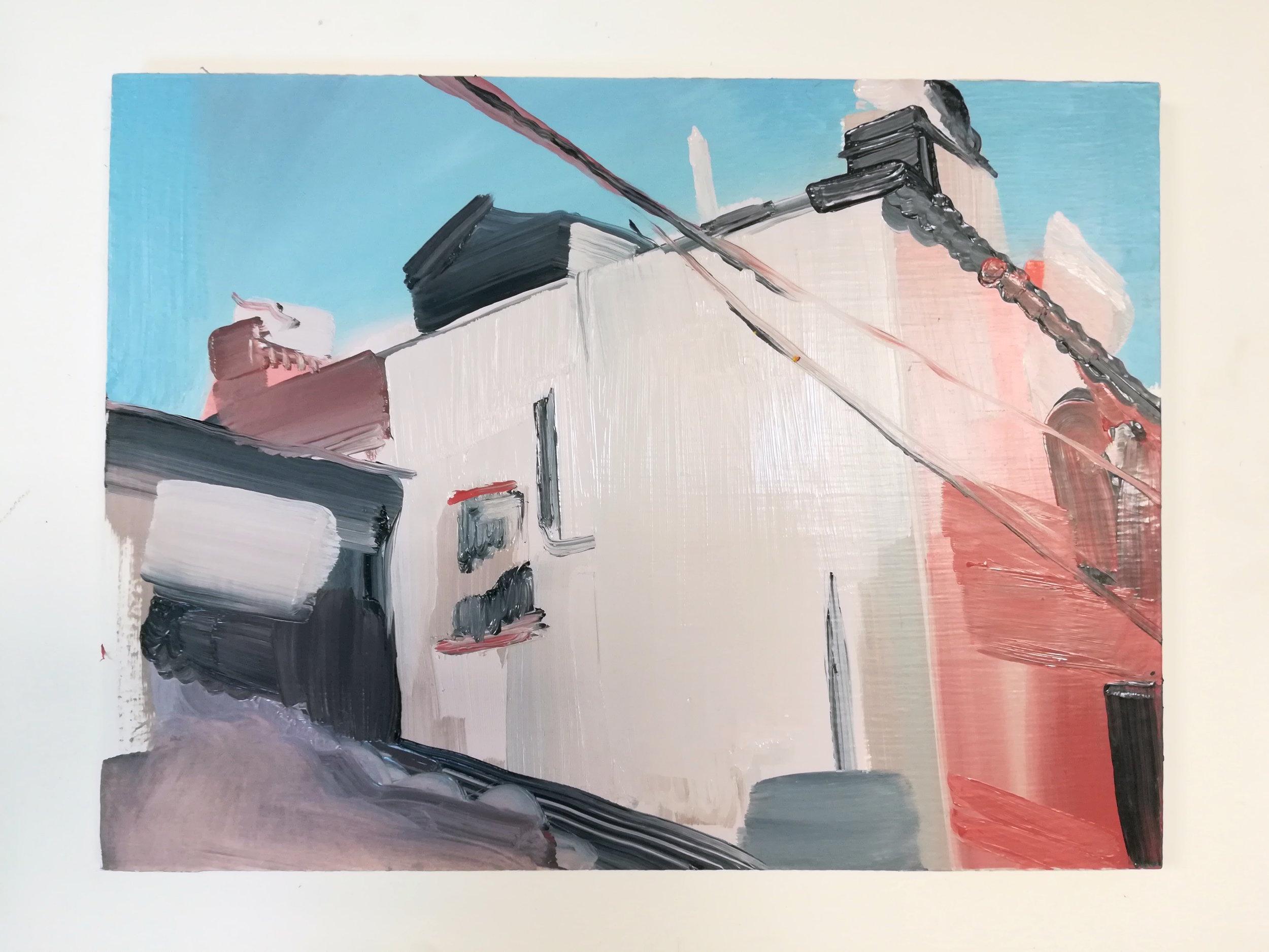 Open Gaze (2017) Oil on Board, 30 x 40cm