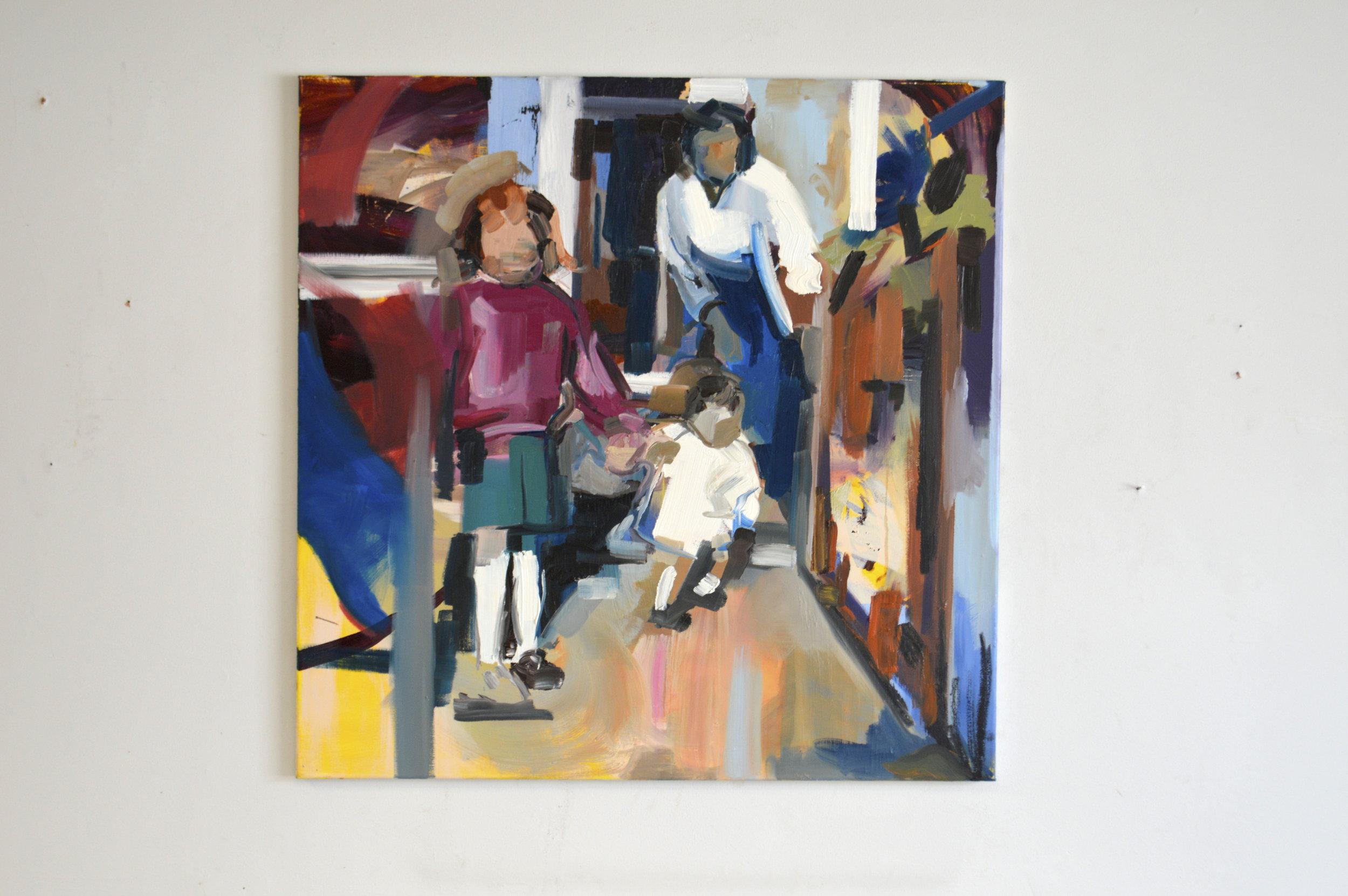 Three Women (2017) Oil on Canvas, 80cm x 80cm