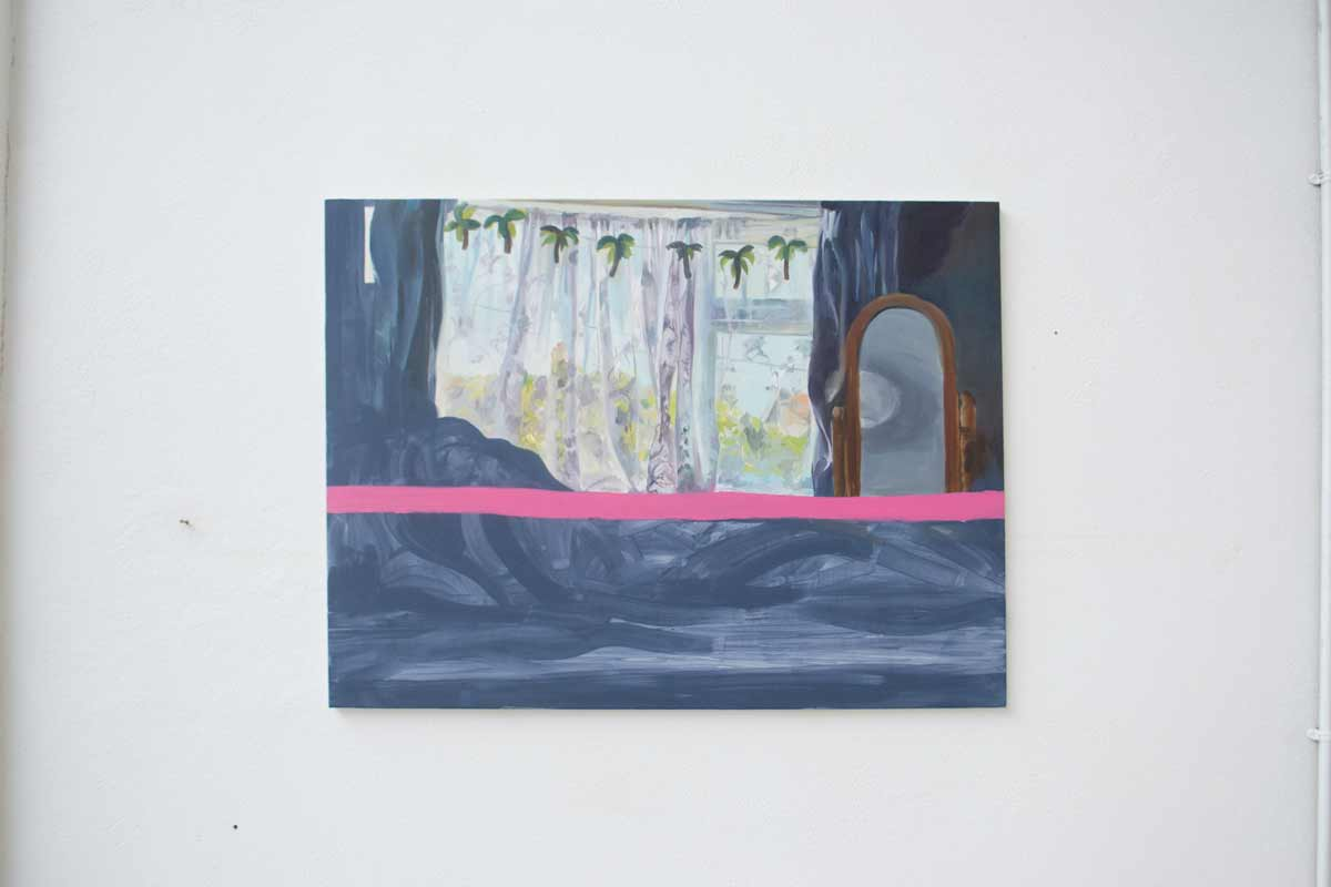 Curtain number nineteen. Oil on canvas. 90 x 120 cm