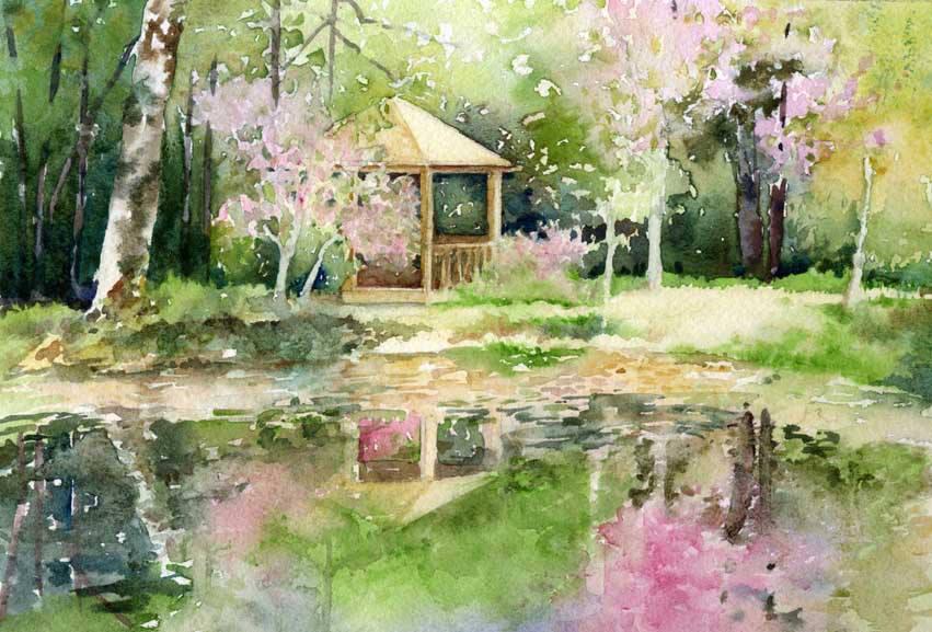 Gazebo at Hunterdon Arboretum by Evelyn Voget