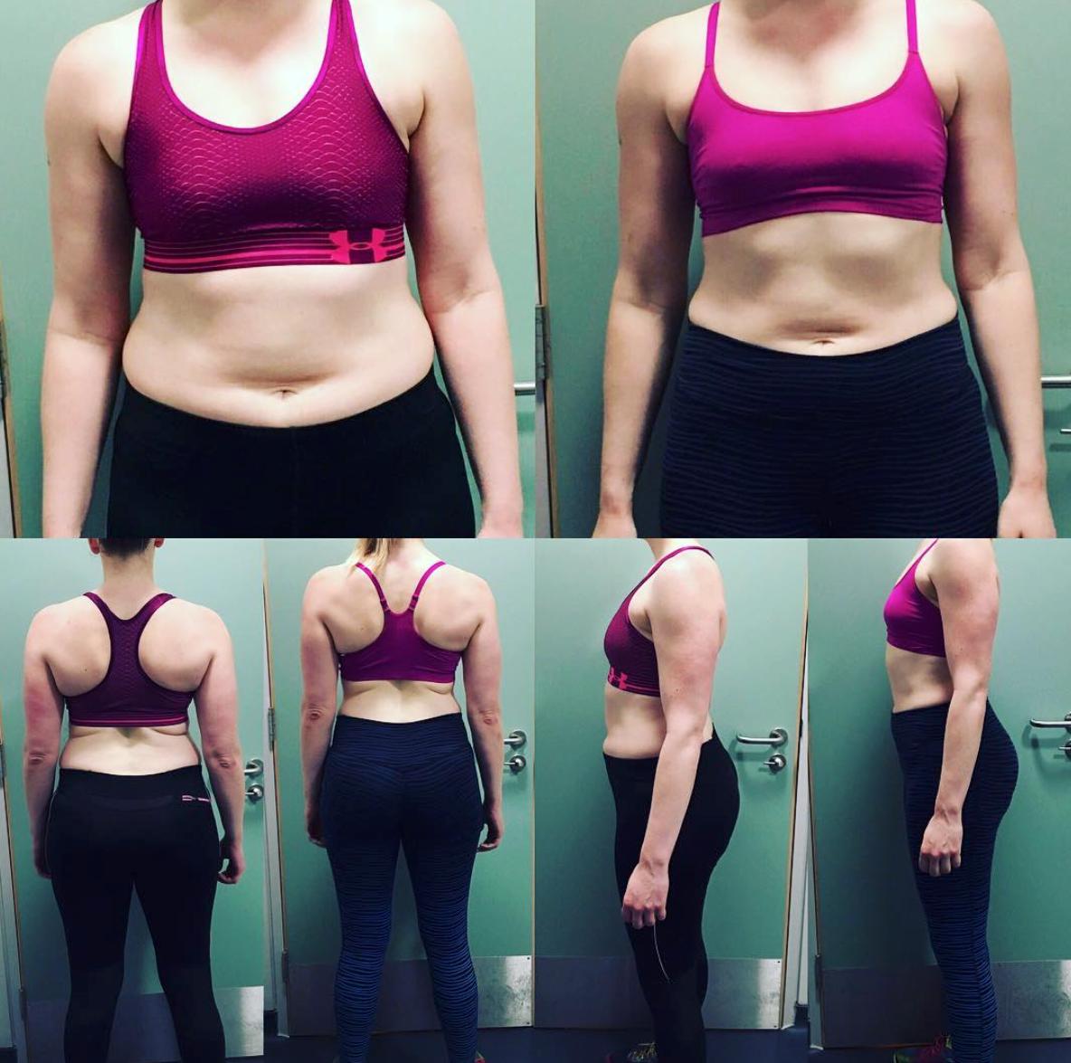 8 weeks, 8kg lost
