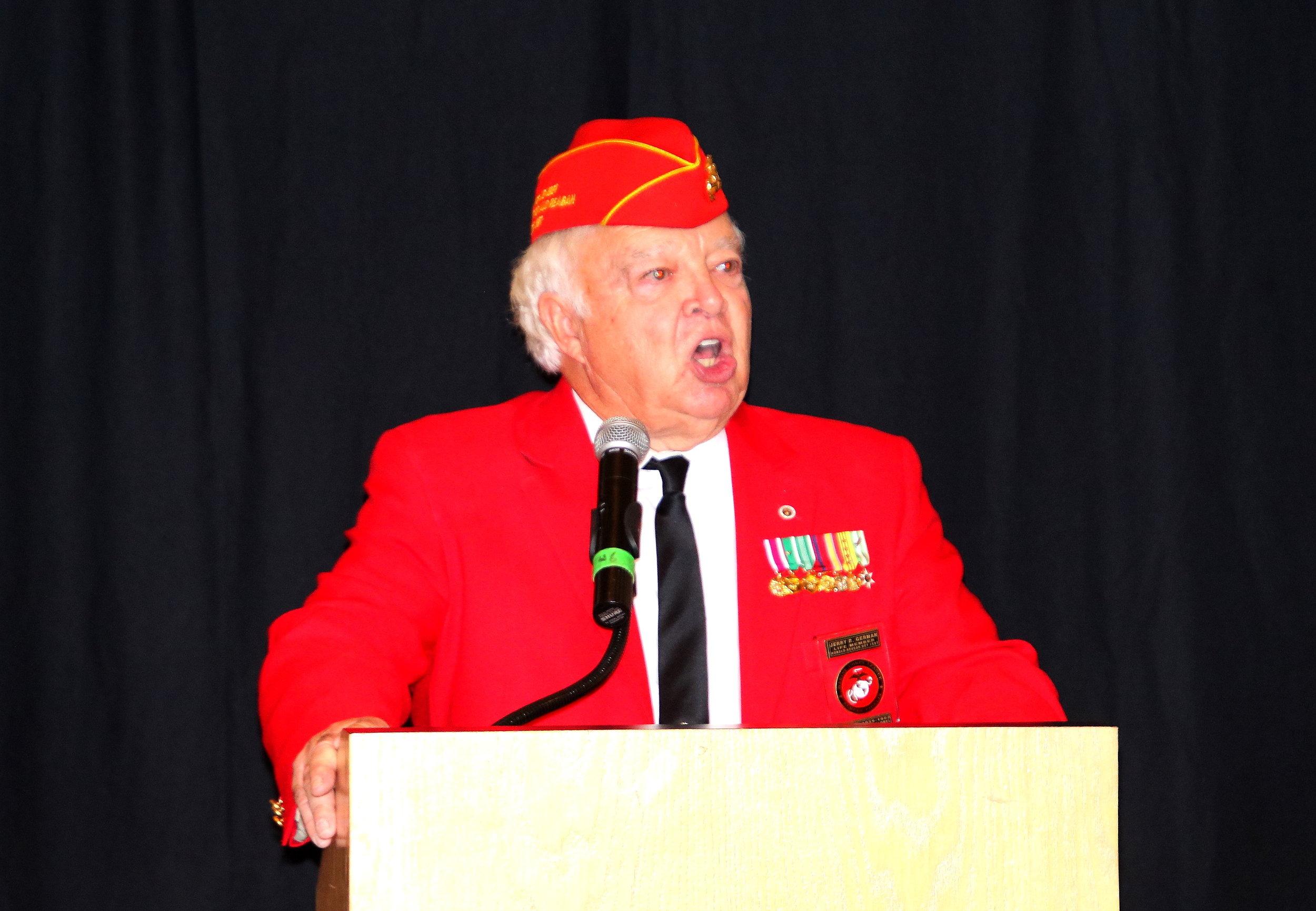 Jerry German as MC of Opening Ceremonies