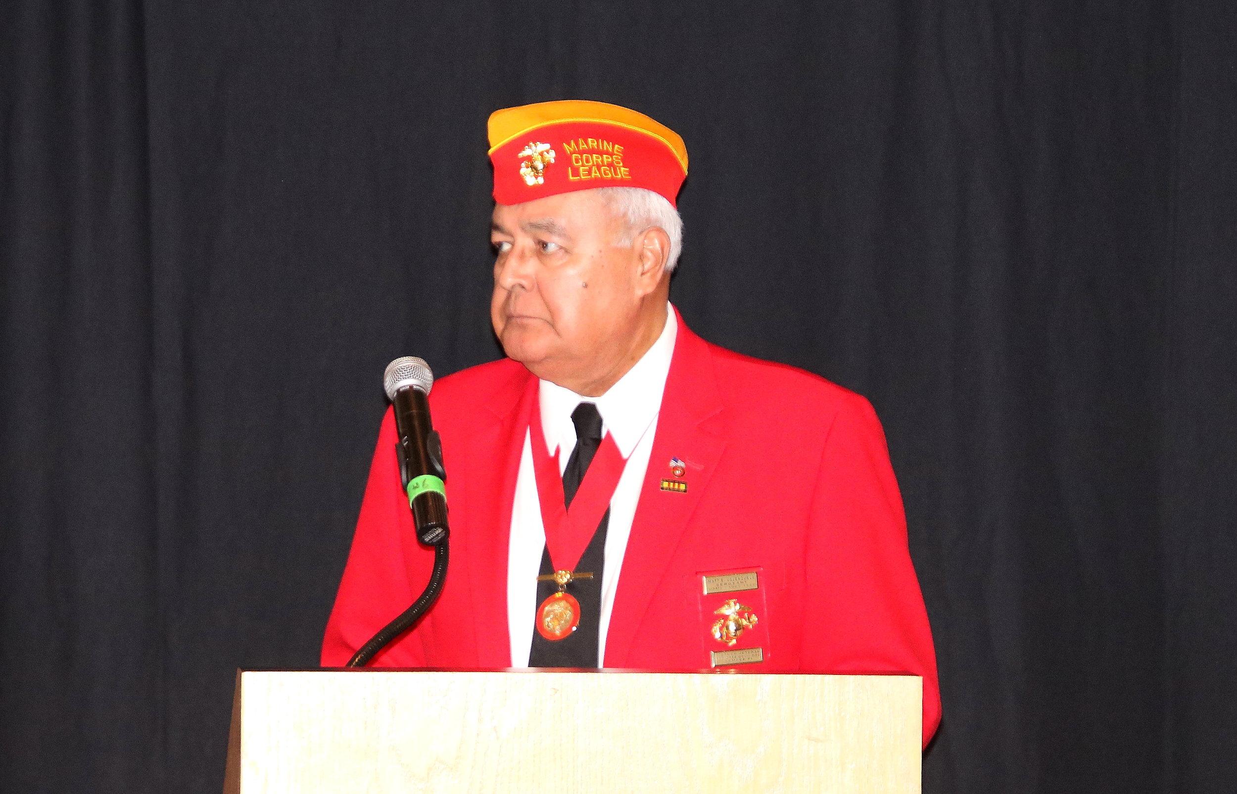 Past Commandant Matt Valenzuela Filling in for Adjutant