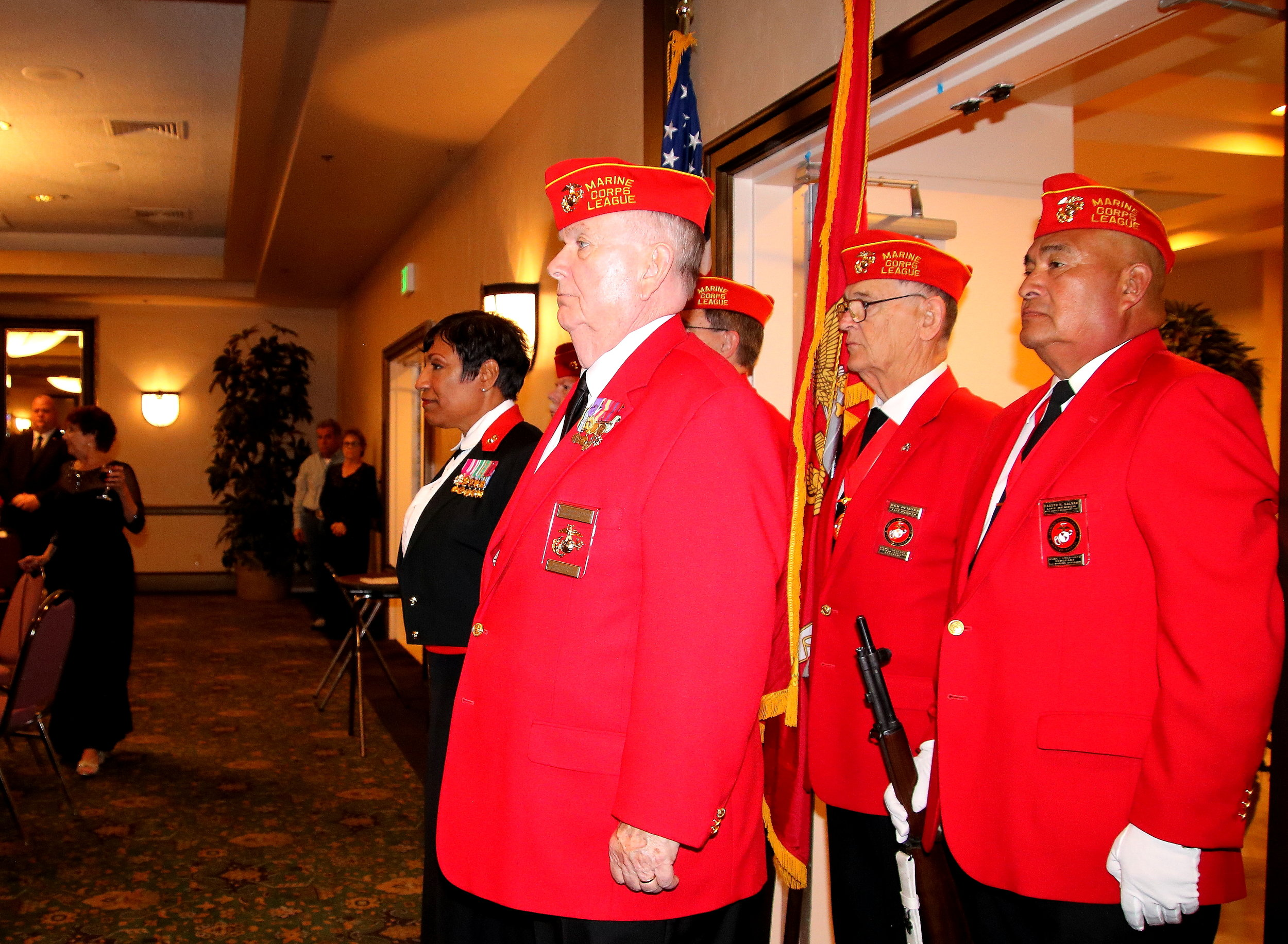 Commandant & Guest of Honor Prepare to Enter the Hall