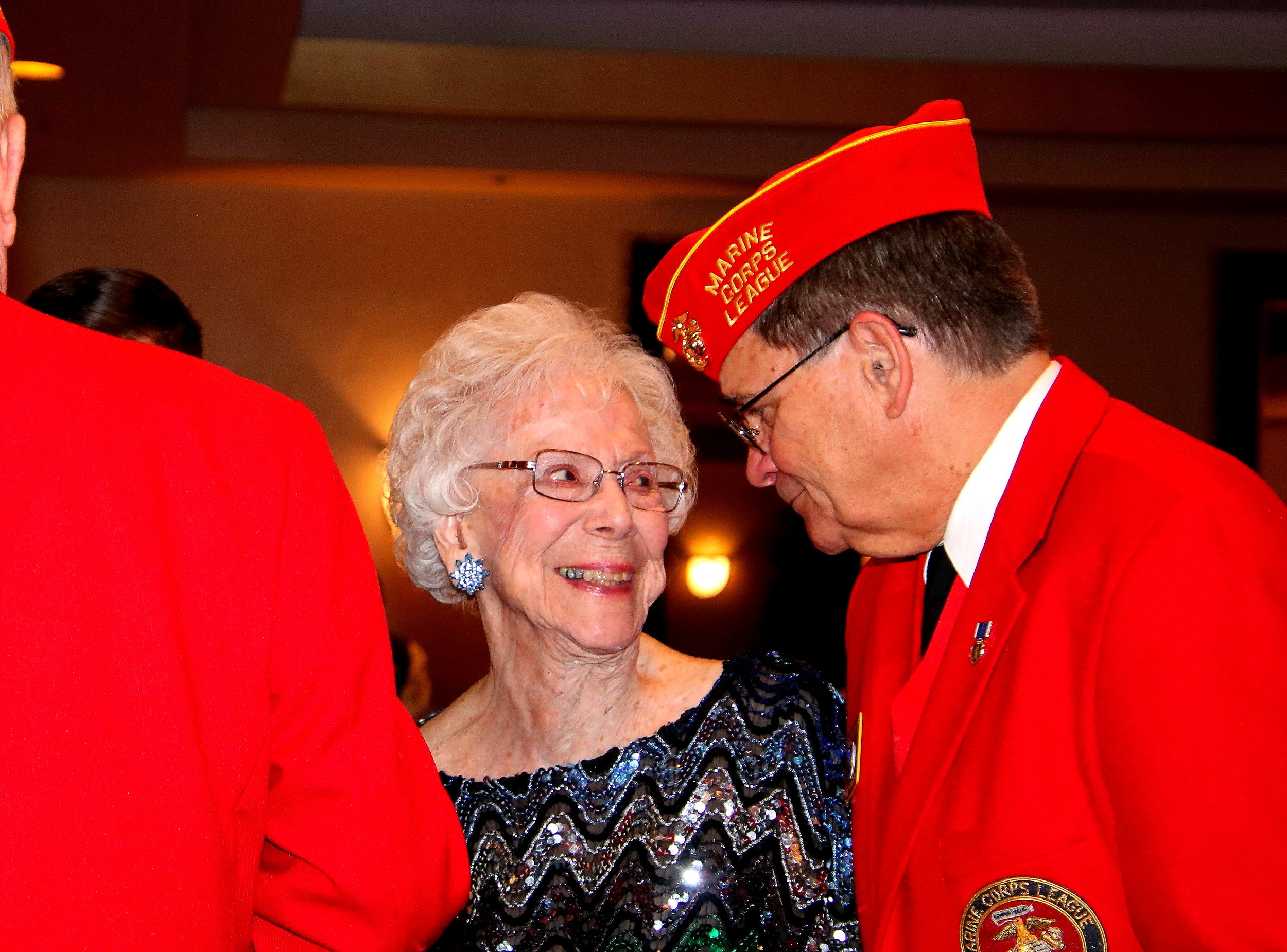 """""""Doc"""" Honaker with our Oldest Member Ms. Jean Irving"""