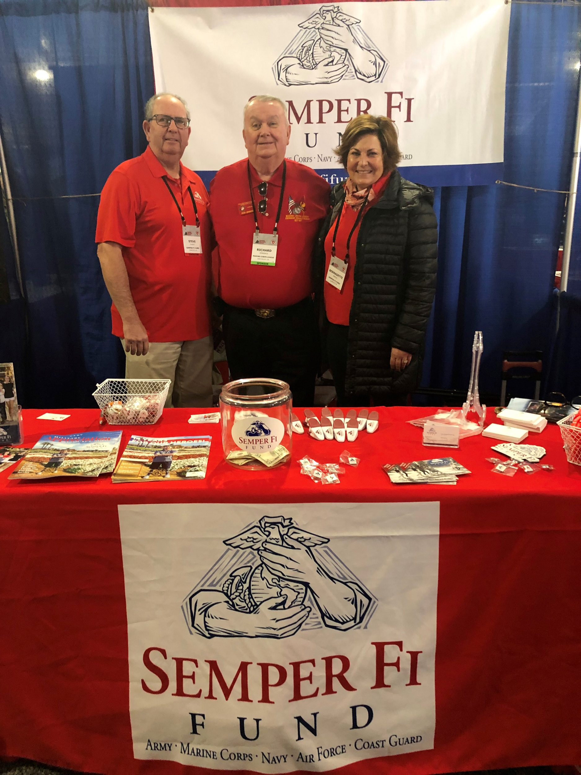 February 8, 2019   Commandant Dick Jennings with Wendy Lethin, Secretary to the Board of Directors from the Semper Fi Fund at the Marine West Expo in Camp Pendleton.