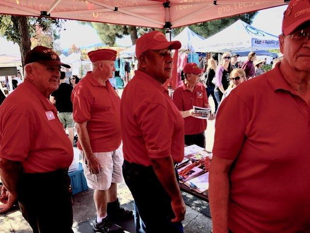 "October 21, 2018   Thousand Oaks Street Fair on October 21st.  L/R: John Mitchell, Doug Morrison, John Fuentes, Ben Pfister and ""Doc"" Honaker."