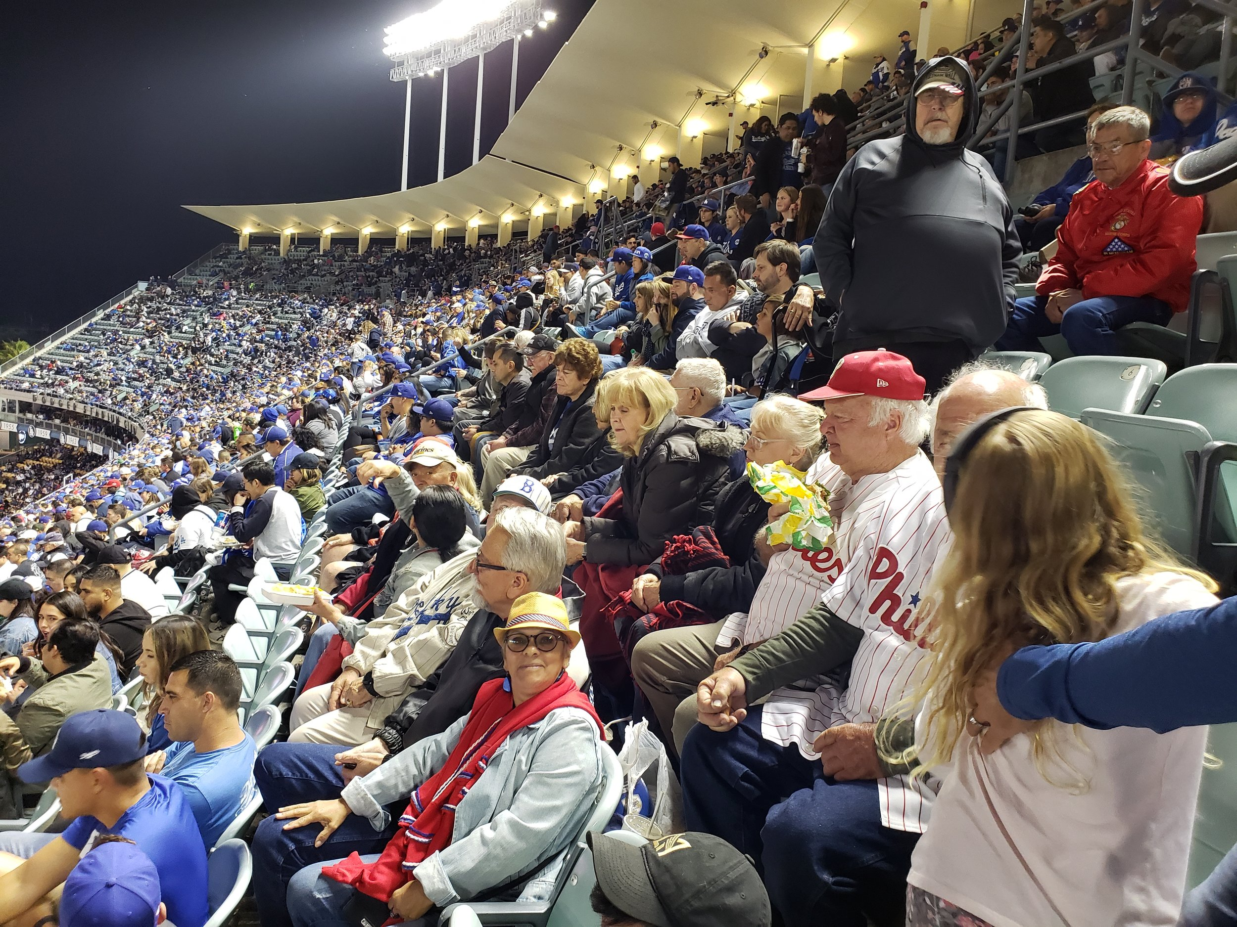 June 2, 2019   The night was beautiful at Dodger Stadium as 50 of our Detachment members and families came to together to watch the Dodgers beat the Phillies with a walk-off home run. A wonderful bus ride, wonderful game and the comradery was especially fantastic.