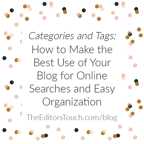 Making the best use of Categories and Tags in your blog
