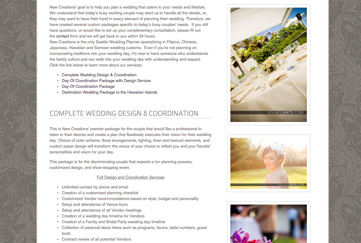 Seattle Wedding Planning and Coordination | New Creations Wedding Design