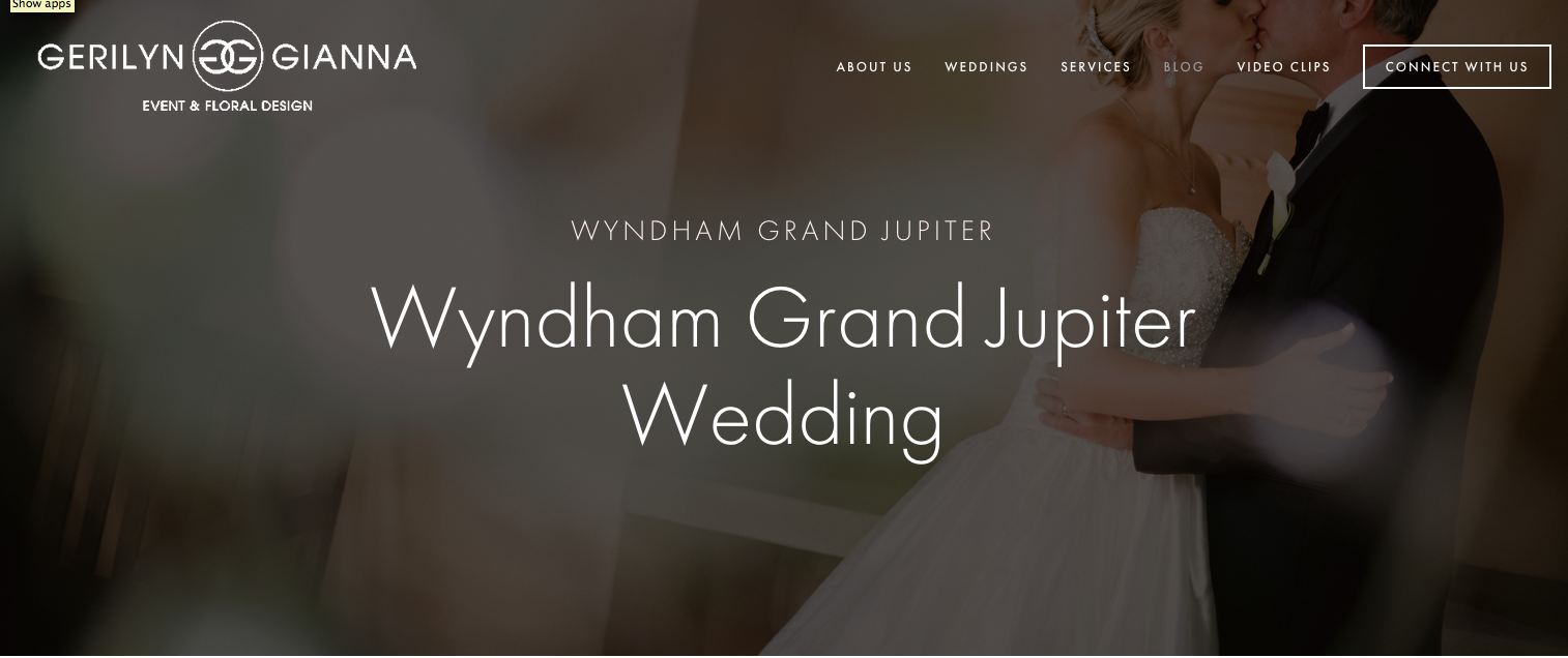 Wedding Professional Website Redesign by Heather Sharpe of The Editor's Touch | Gerilyn Gianna | Palm Beach Wedding and Event Design