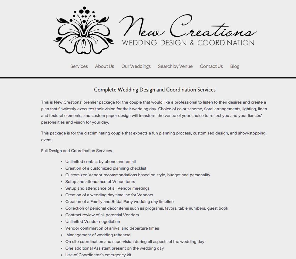 Wedding Website Redesign by Heather Sharpe   The Editor's Touch