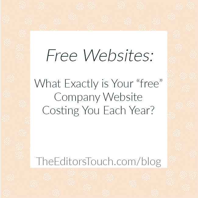 Free Company Websites | What Are They Costing You?