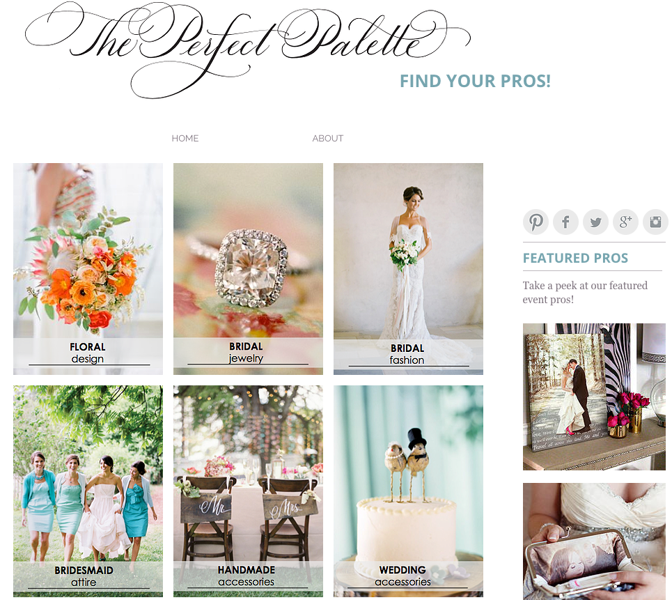 The Perfect Palette Vendor Guide | The Editor's Touch