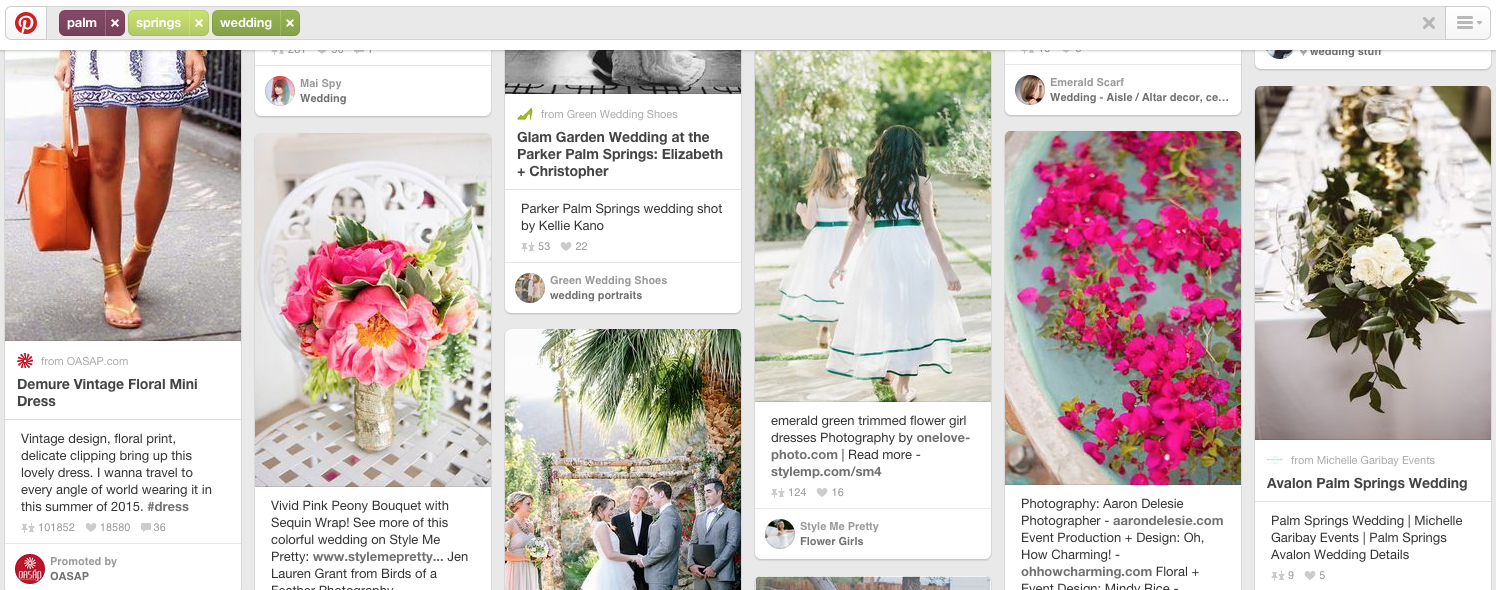 Brides Can Use Pinterest as a Search Engine to Plan Their Wedding | The Editor's Touch