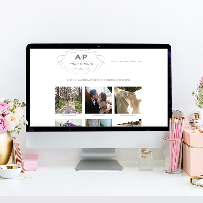 Arthouse Photographs Website Design by Heather Sharpe of The Editor's Touch