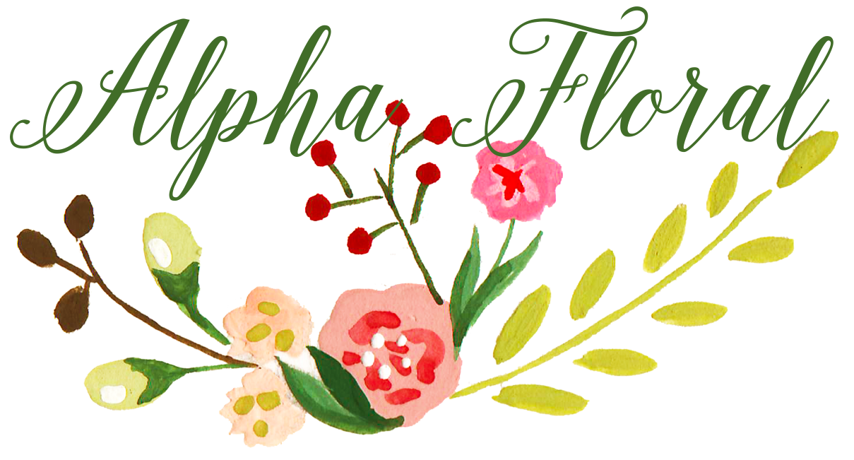 Alpha Floral   Design by The Editor's Touch