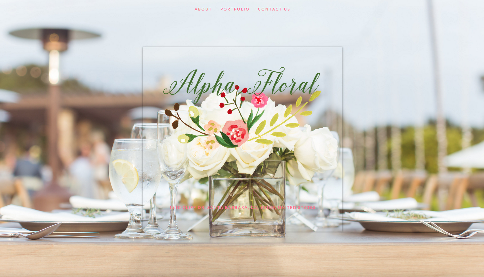 Alpha Floral Website Design by Heather Sharpe of The Editor's Touch