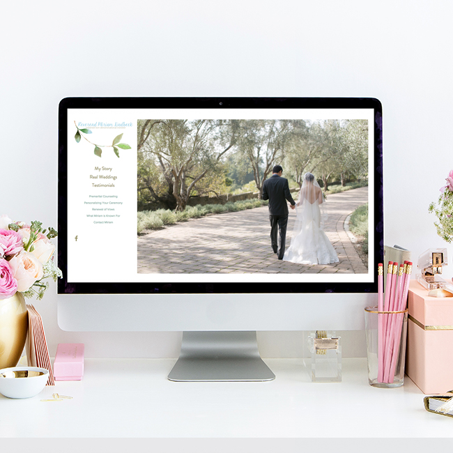 Website Design for Miriam Lindbeck   The Editor's Touch