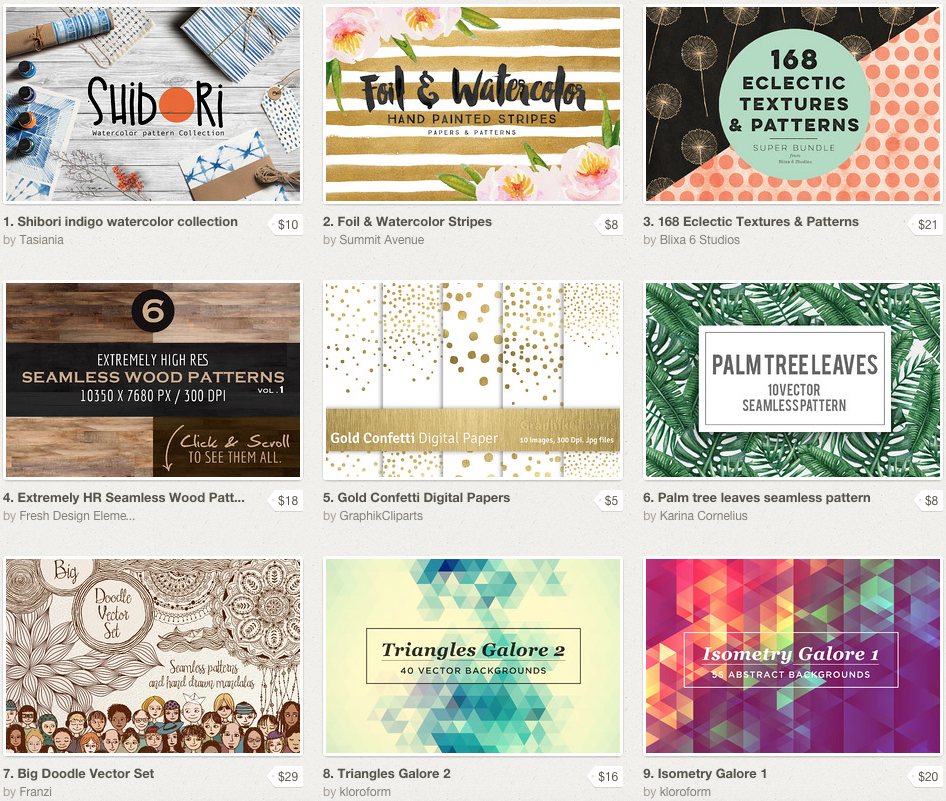 The Best Graphics for Downloading | Creative Market | The Editor's Touch