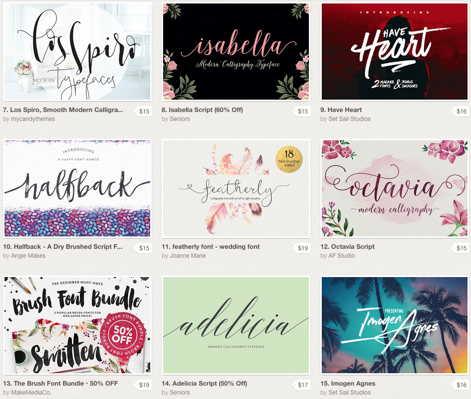 Best Script Fonts to Download | Website Designer | The Editor's Touch