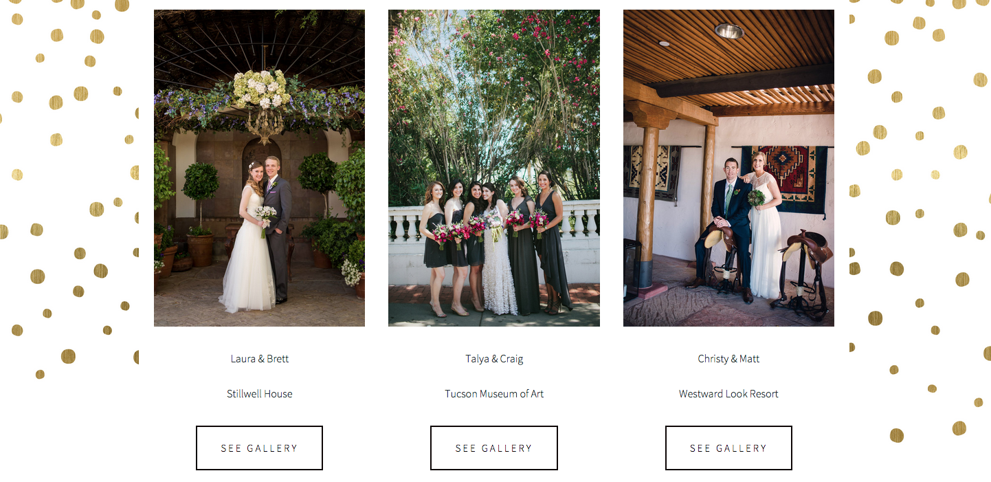 Website Design for Simply Elegant Events | The Editor's Touch